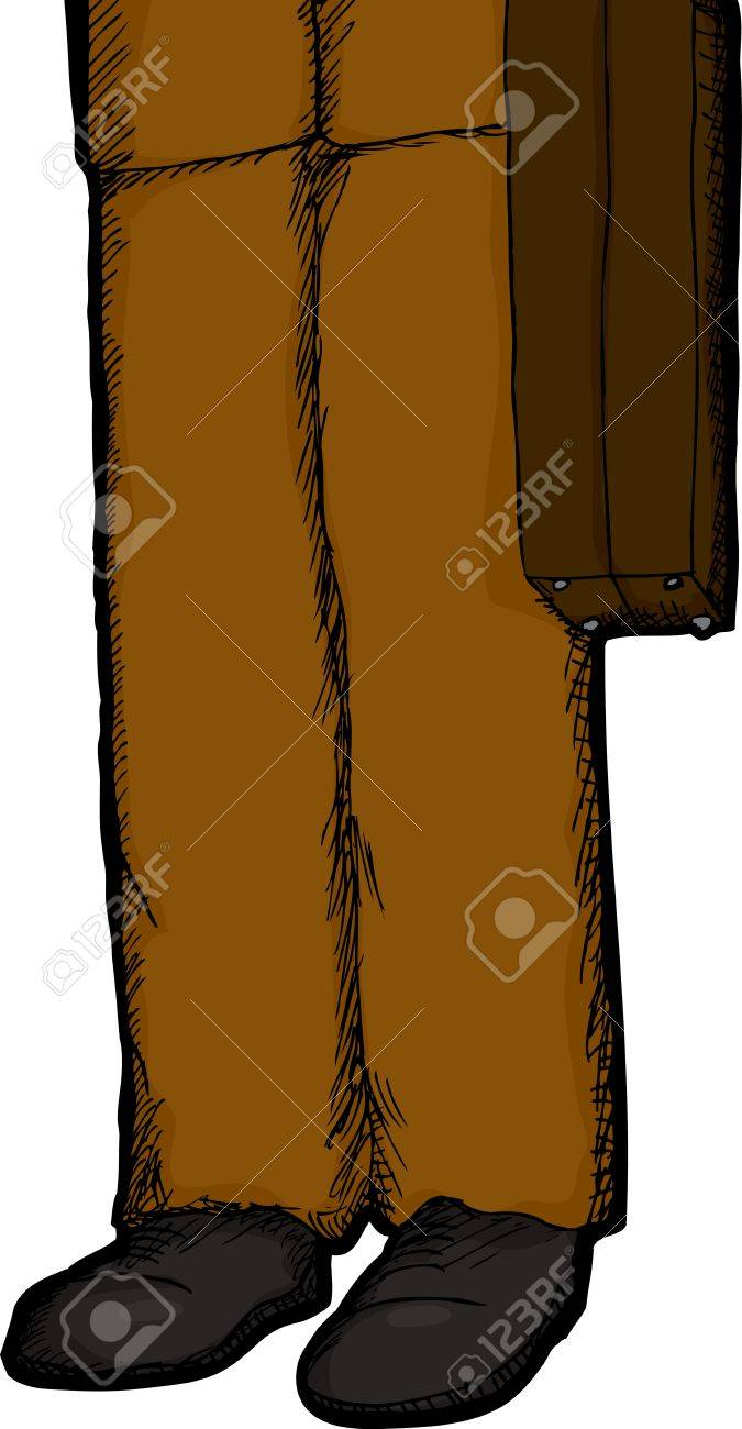 Isolated cartoon of business person holding a briefcase Stock Vector - 14971683