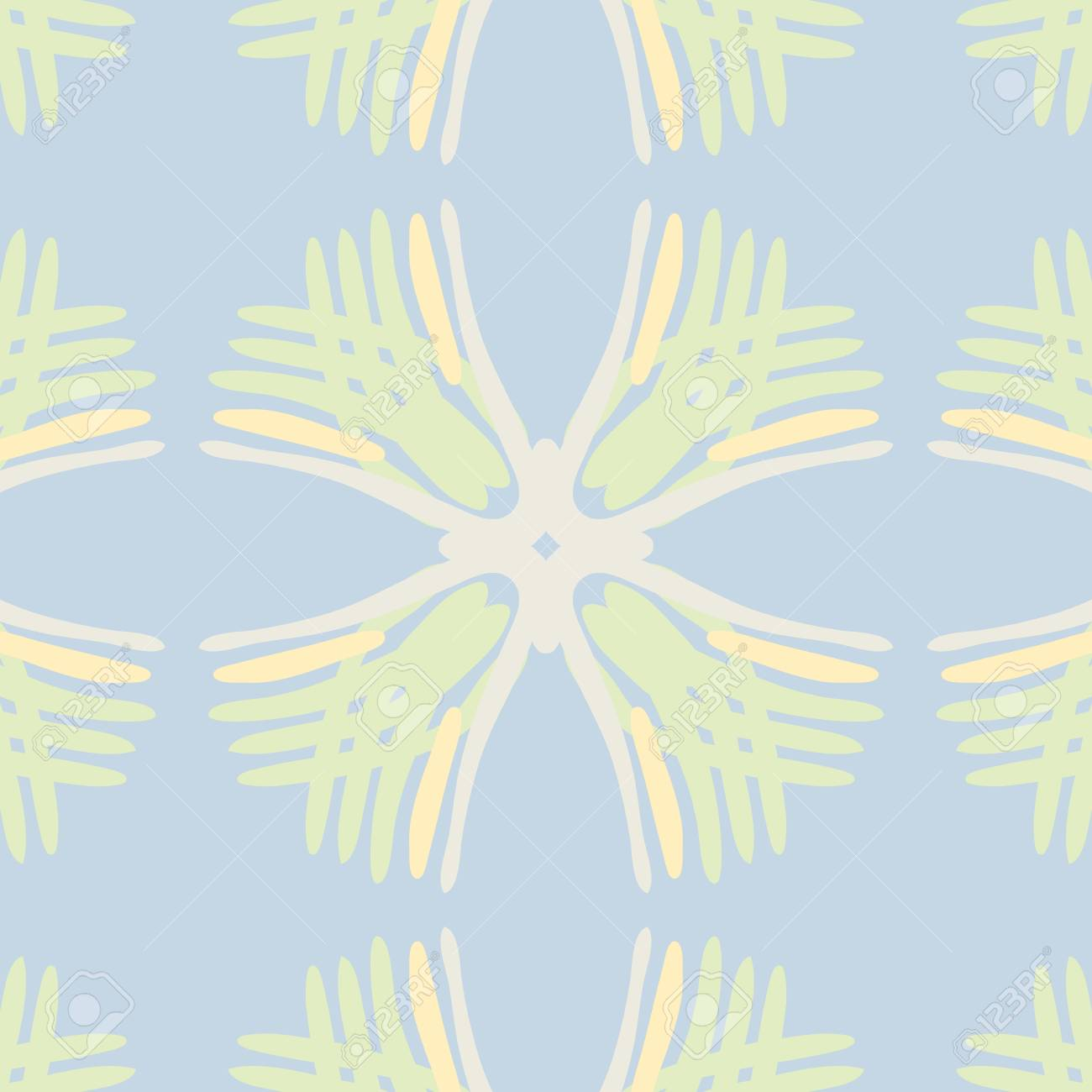 Blue and green string squares in seamless background pattern Stock Vector - 17212031