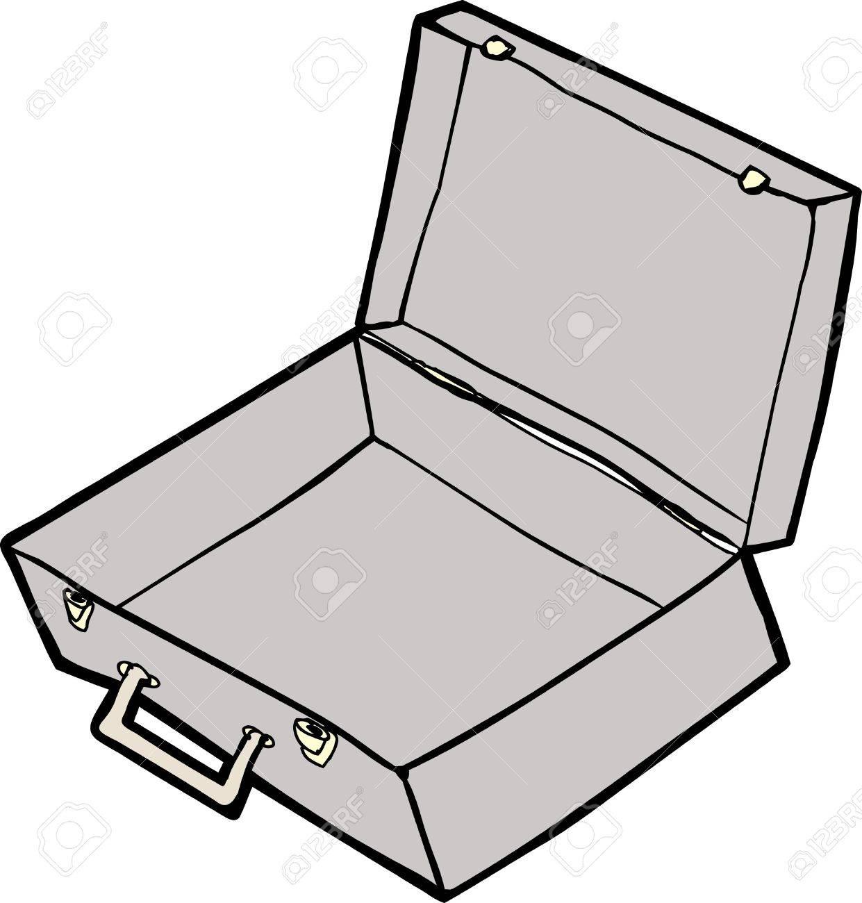 Empty open suitcase cartoon over white background Stock Vector - 18518162