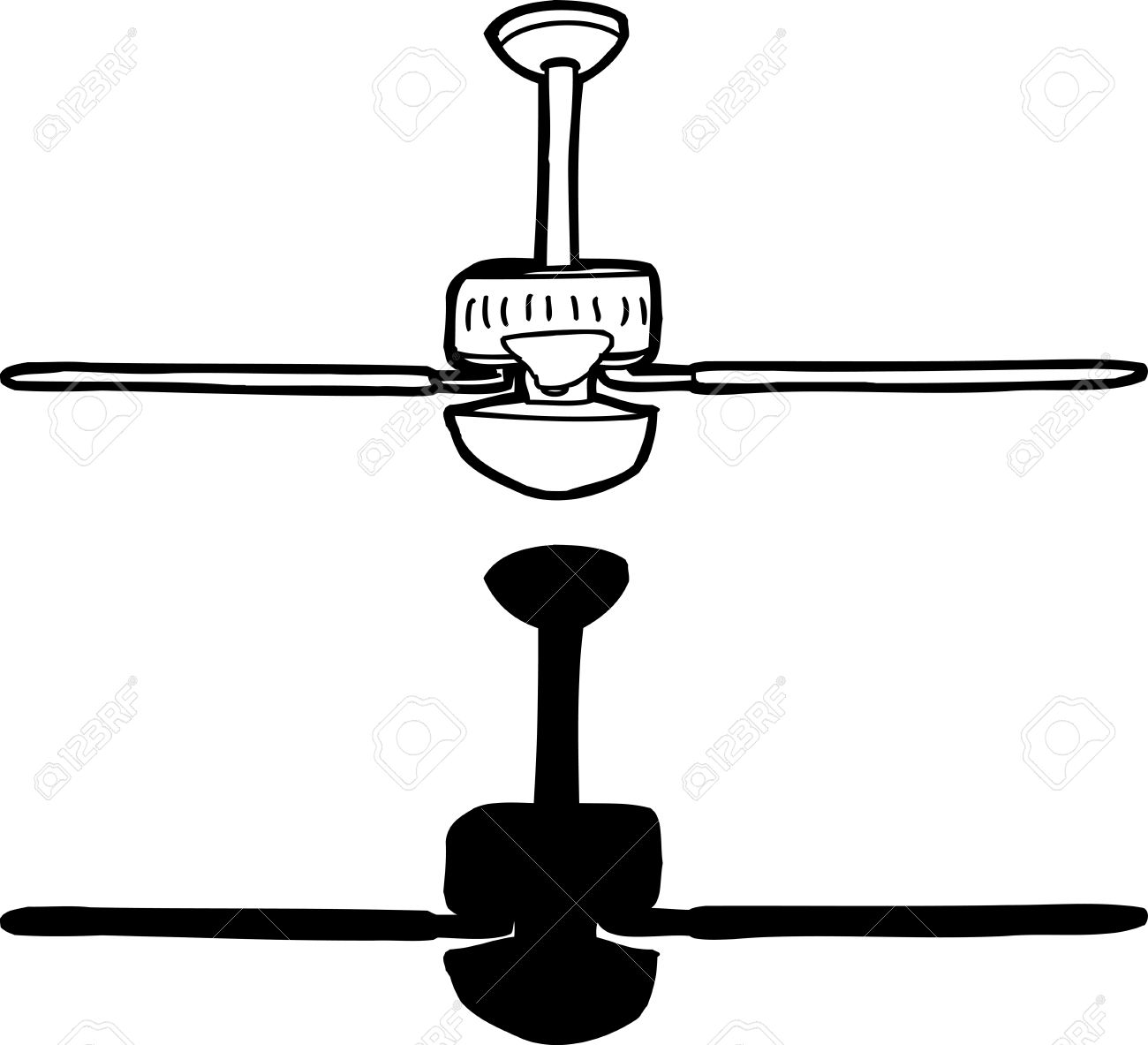 ceiling fan drawing. black and white drawing of ceiling fan stock vector - 27236290 o
