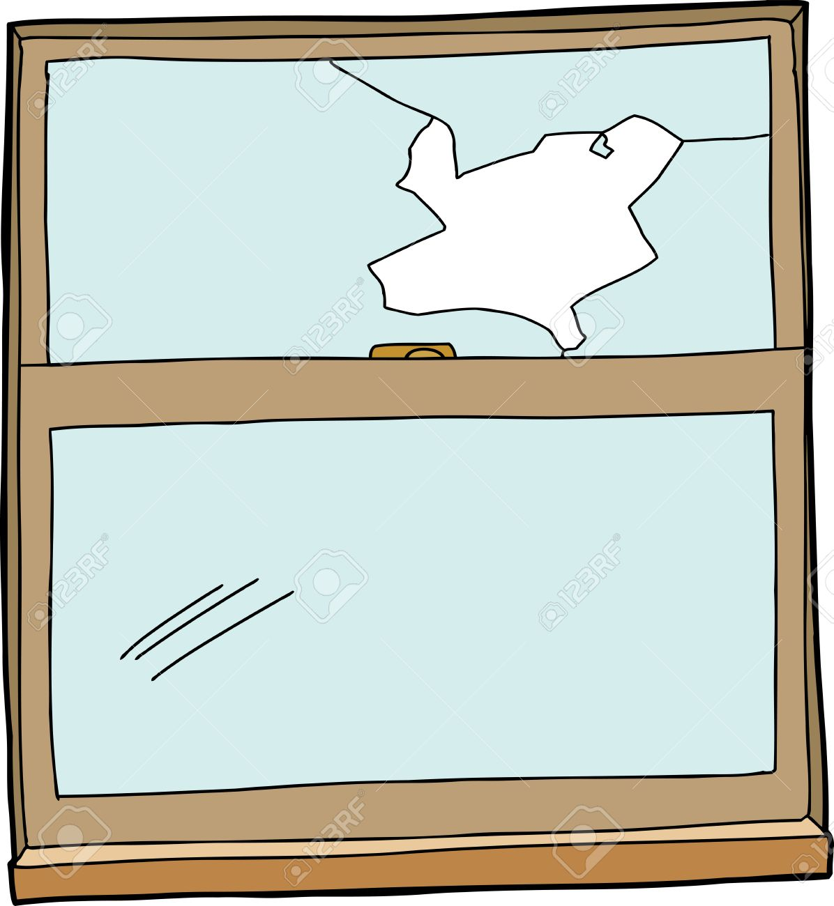 wooden window frame with broken glass pane royalty free cliparts rh 123rf com  window frame clipart picture