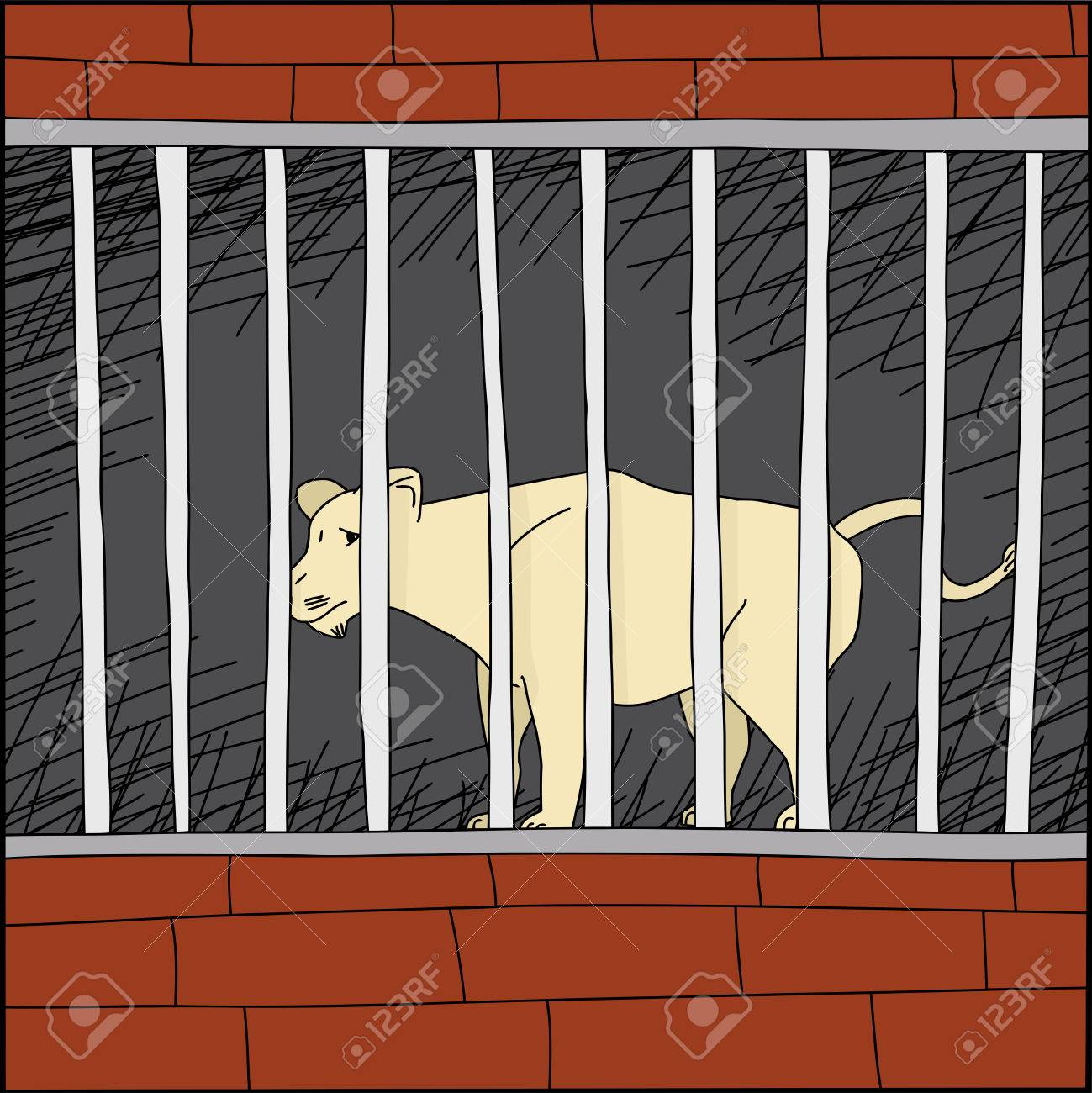 Sad Lion Cartoon Cartoon of Sad Lion Behind