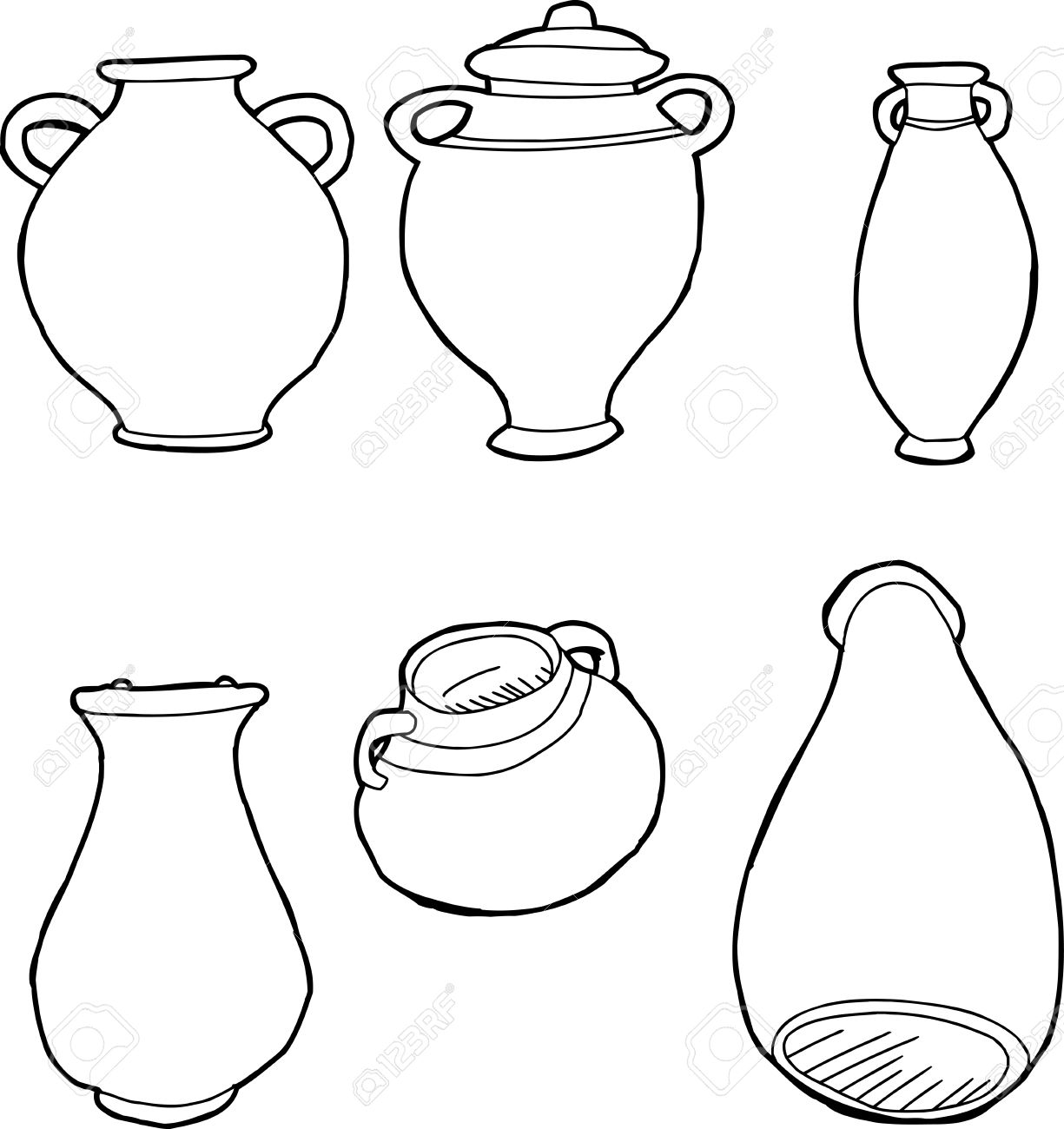 Outlined drawings of ancient greek amphora vases royalty free outlined drawings of ancient greek amphora vases stock vector 33176770 reviewsmspy