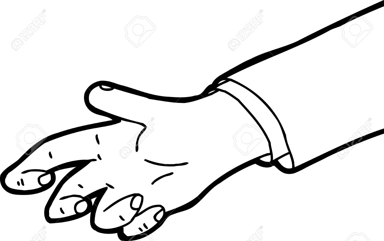 Hand Reaching Out Clipart