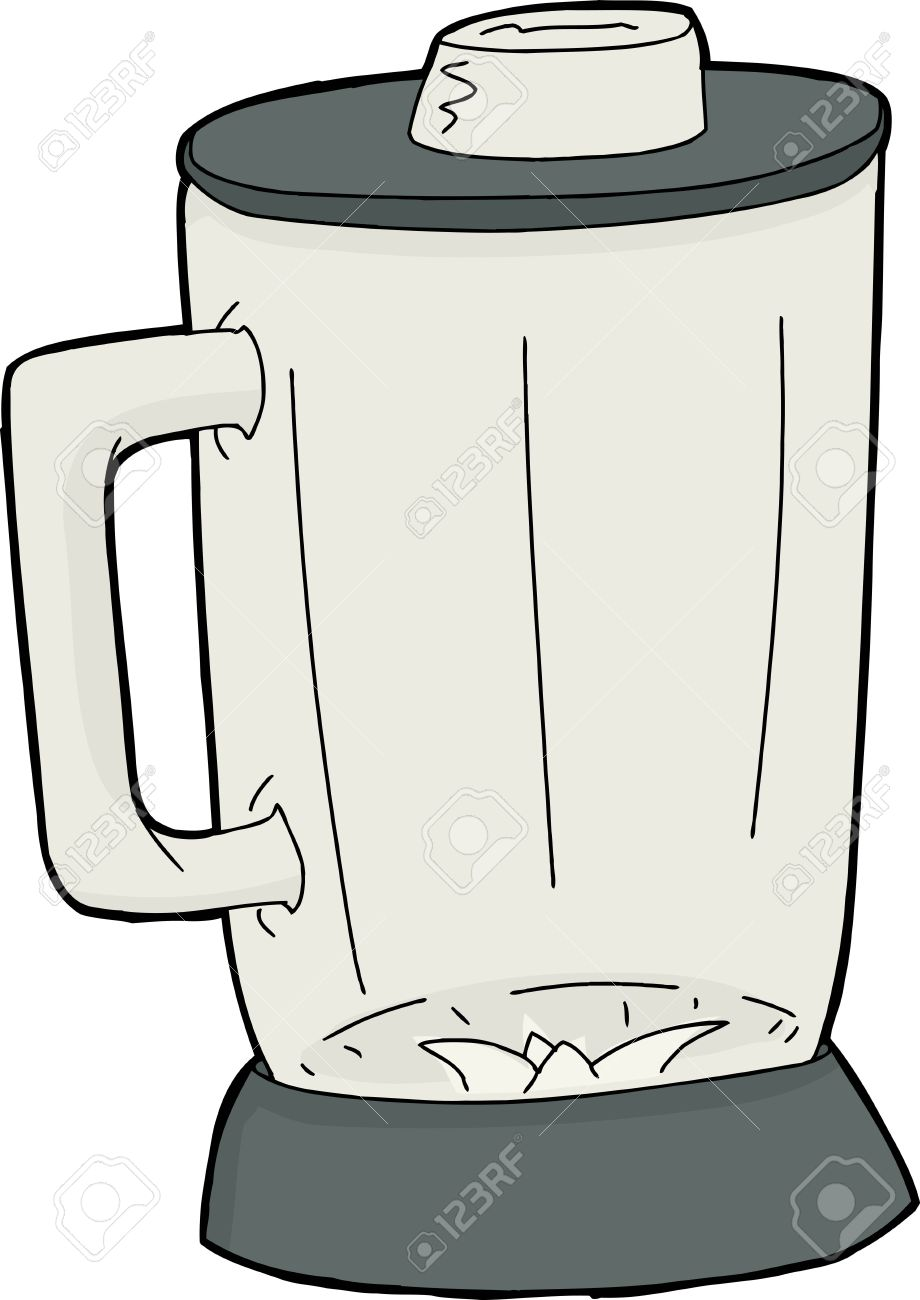 Cartoon Empty Closed Blender Jar Over White Royalty Free Cliparts Vectors And Stock Illustration Image 38545606