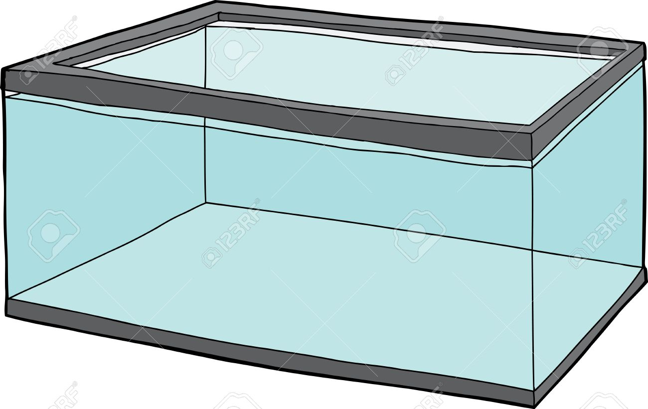 single rectangular pet fish tank full of water royalty free cliparts rh 123rf com fish tank clip art images fish tank clip art black and white