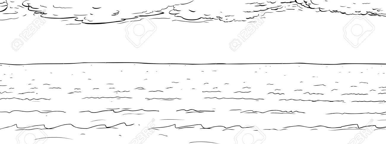 Ilustración De Contorno De Fondo De La Superficie Del Agua Del ...