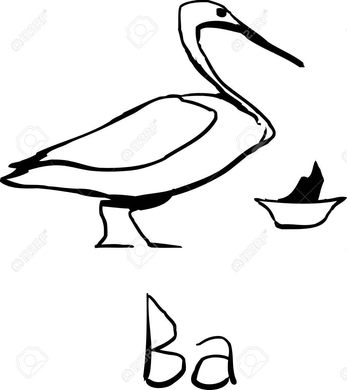 Outline sketch of ancient egyptian bird symbol representing the outline sketch of ancient egyptian bird symbol representing the vital force of the gods stock vector biocorpaavc