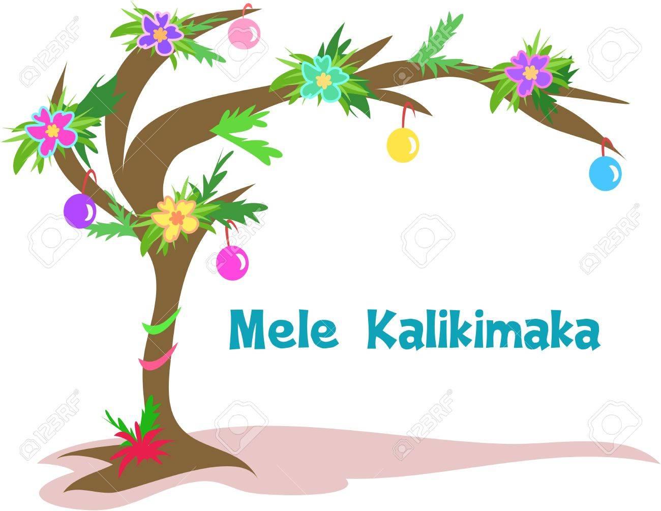 Christmas Tree Hawaii Part - 22: Hawaiian Christmas Tree Stock Vector - 5643244