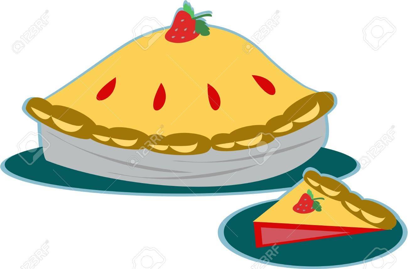 Strawberry Pie Stock Vector - 9208462