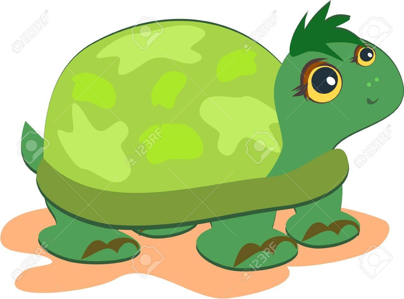 Cute Green Turtle Stock Vector - 10784862