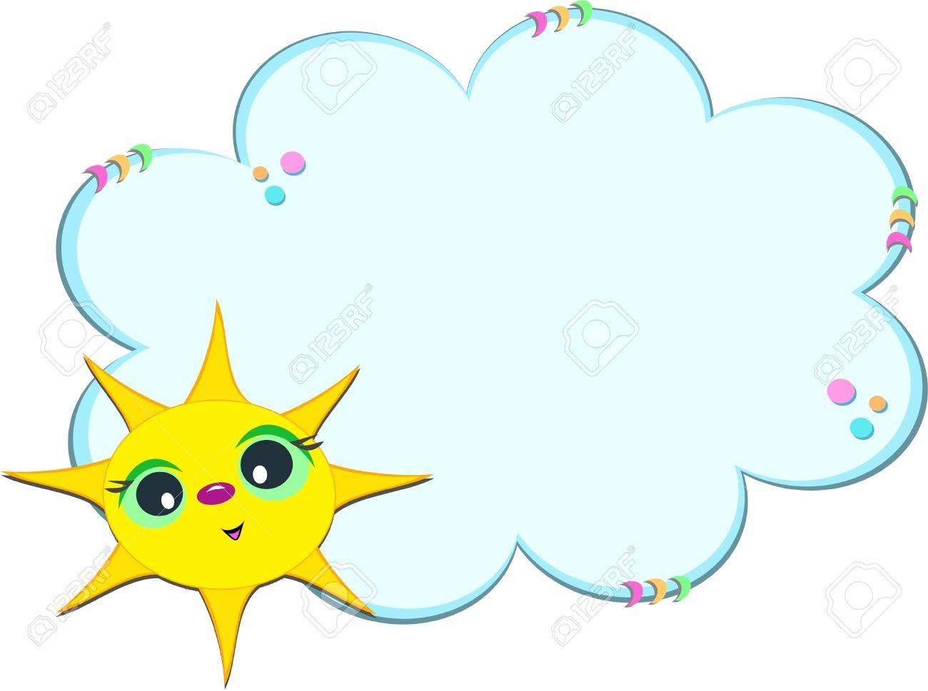 Sunny Cloud Frame Royalty Free Cliparts, Vectors, And Stock ...