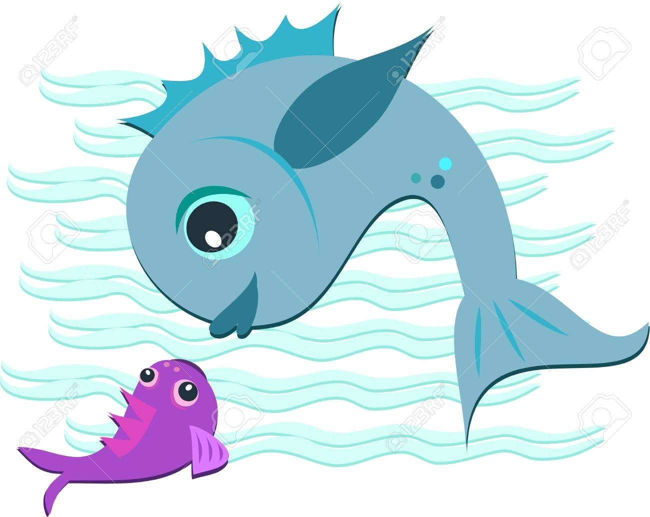 Mother and Baby Fish Stock Vector - 11275343