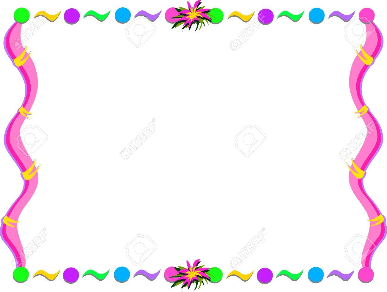 Whimsical Frame With Shapes And Flower Royalty Free Cliparts ...