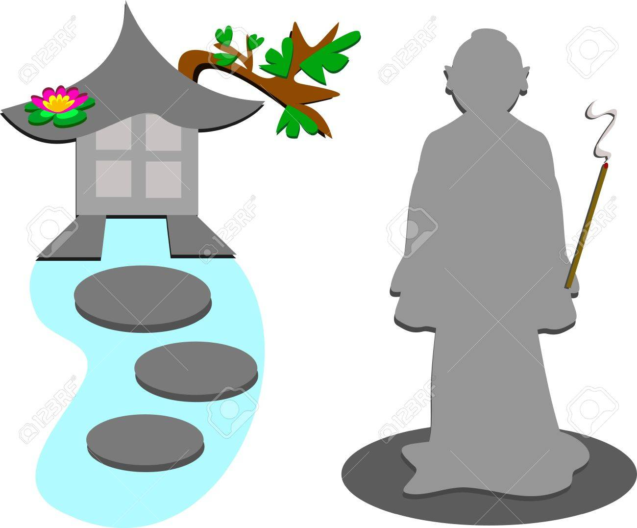 Mix of Inner Peace Stock Vector - 11494913