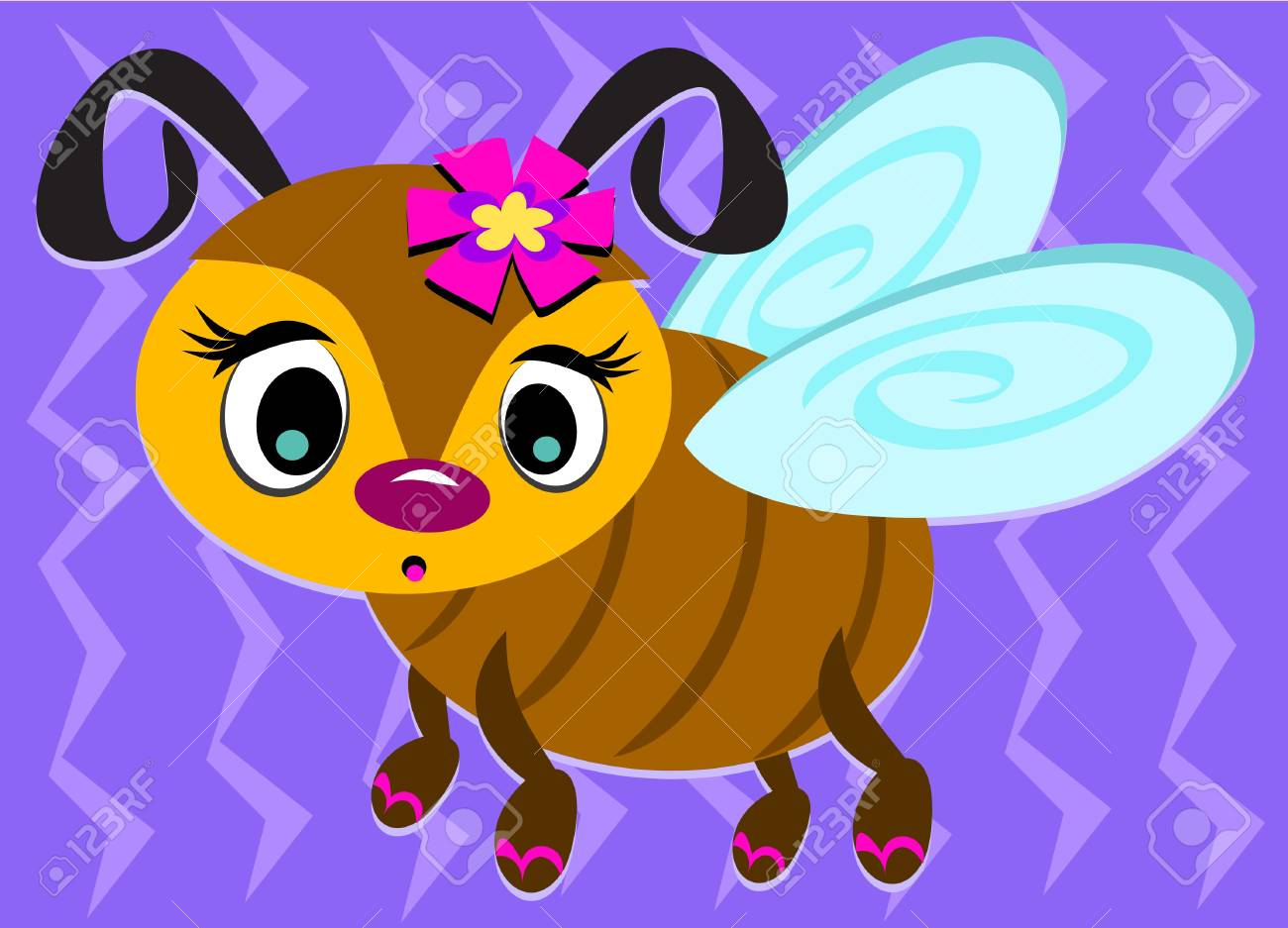 Cute Bee with Sandals Stock Vector - 12002200
