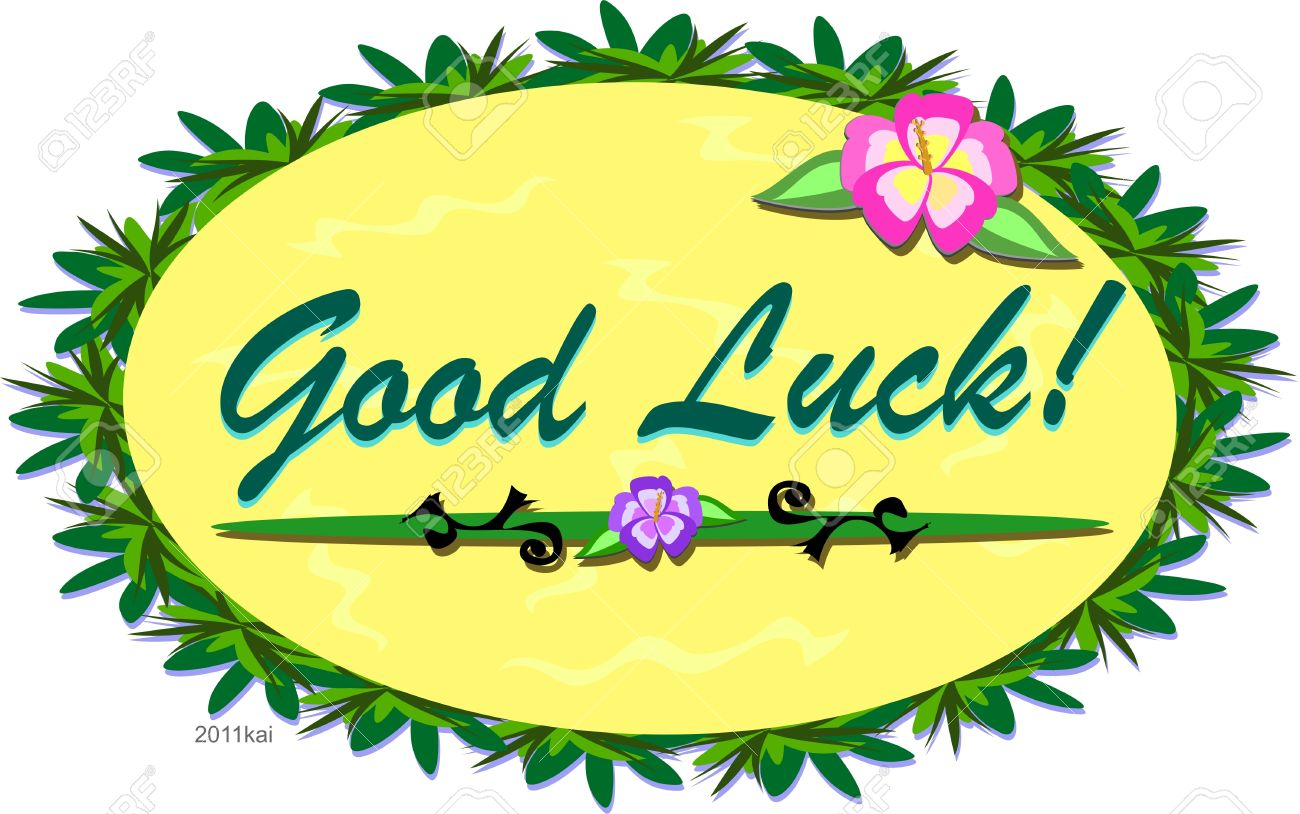 tropical good luck sign royalty free cliparts vectors and stock rh 123rf com good luck clipart gif good luck clipart gif