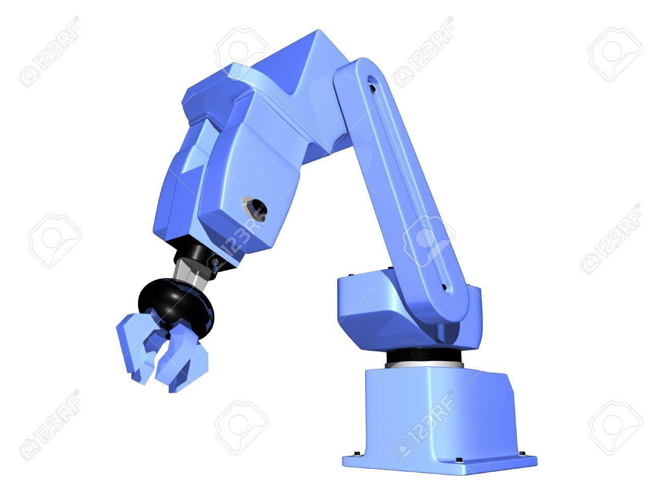 3D Robotic arm isolated on white background Stock Photo - 1809755
