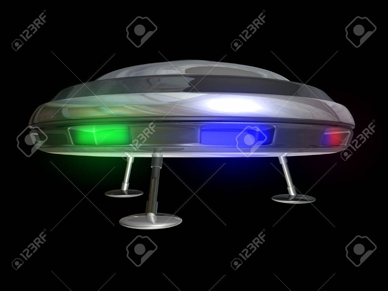 UFO On A Black Background 3D Illustration Stock Photo, Picture And ... for Ufo Black Background  173lyp