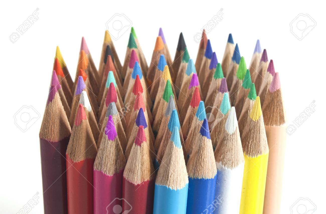 a bundle of colouring pencils all together Stock Photo - 7656278