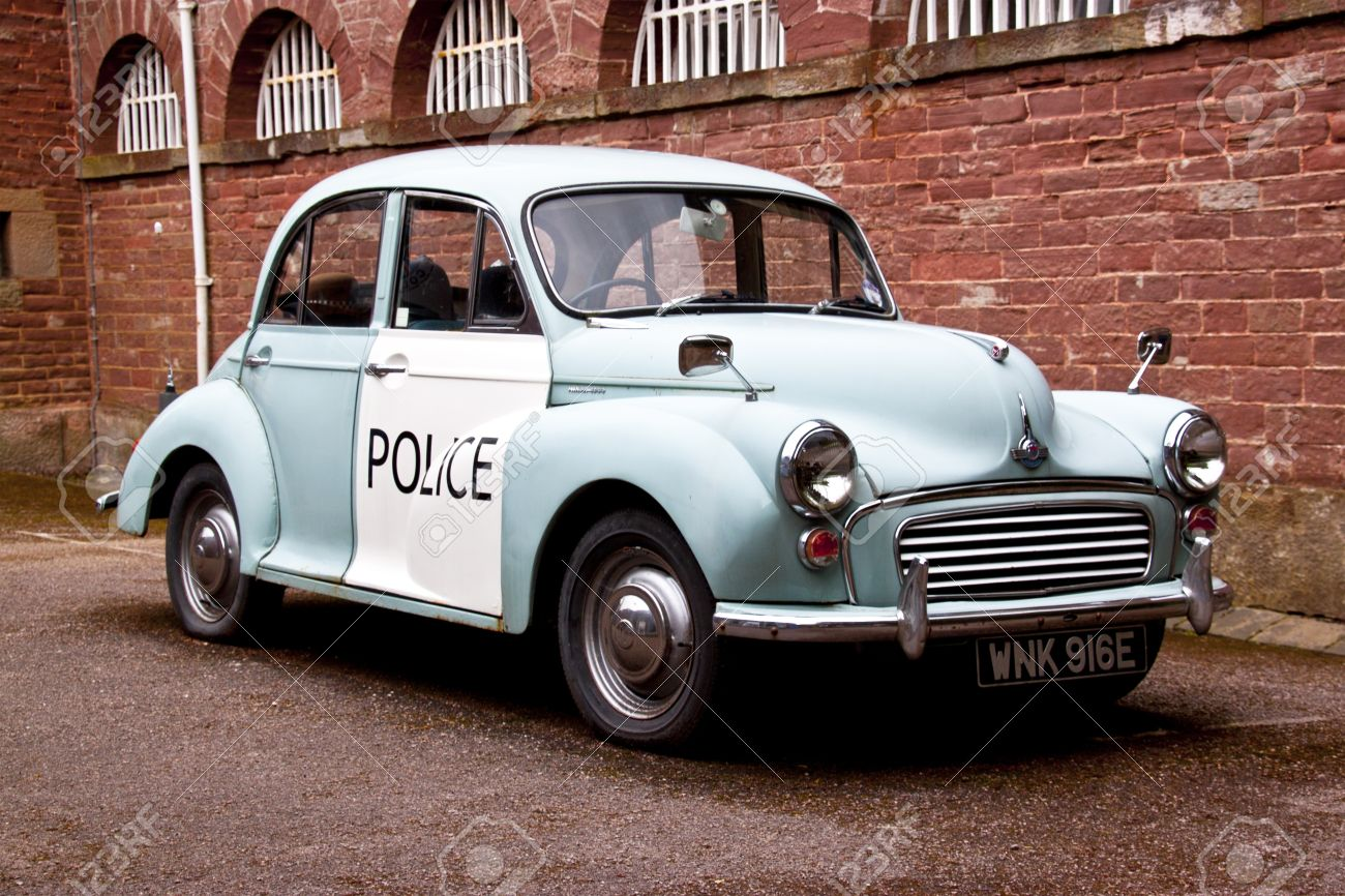 Old Style English Police Car Stock Photo, Picture And Royalty Free ...