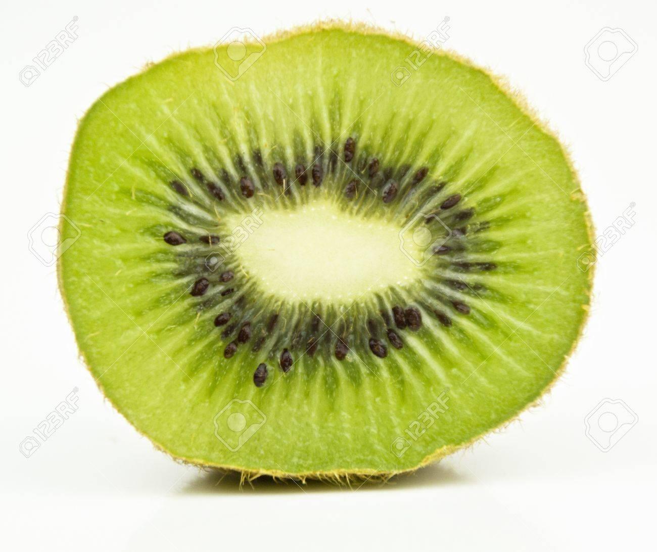 kiwi fruit cut through centre Stock Photo - 15011757