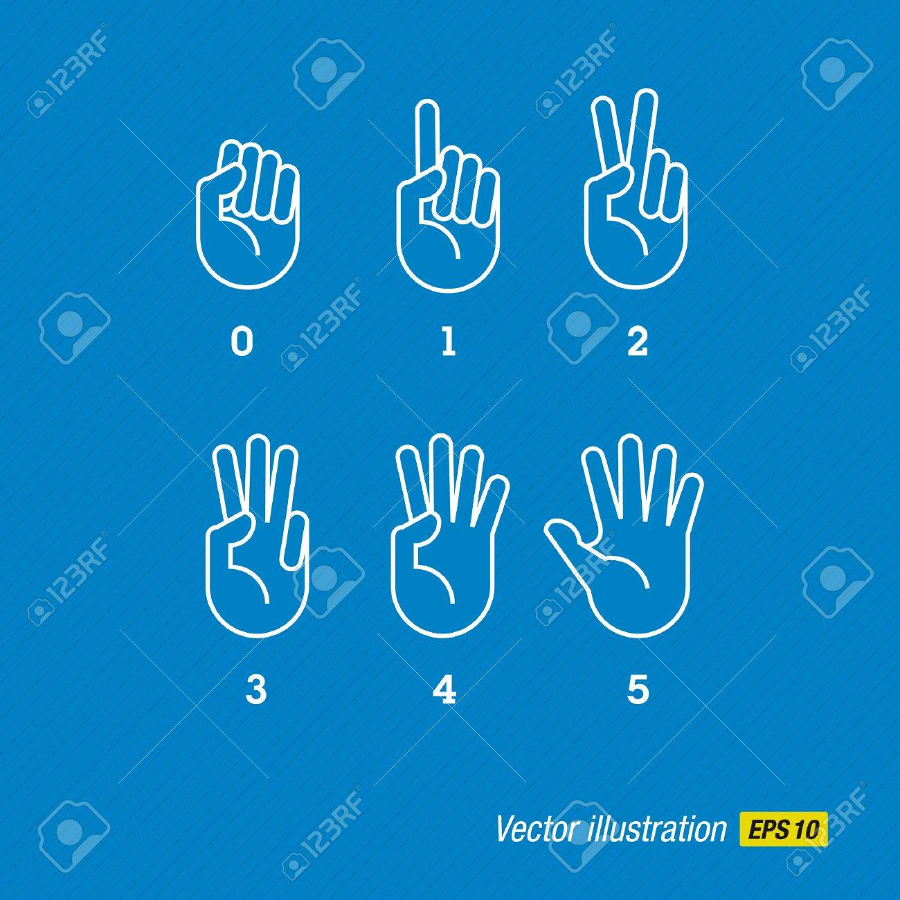hands and fingers Stock Vector - 16211788