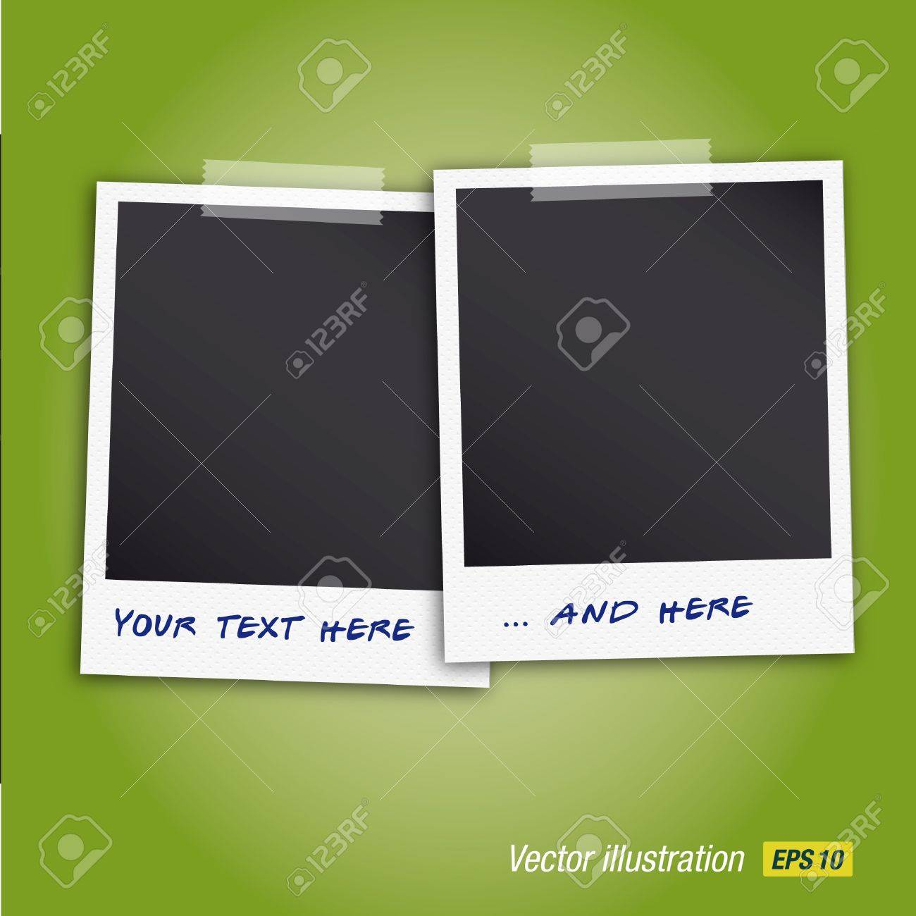 Two realistic photo frame stacking with texture Stock Vector - 16211794