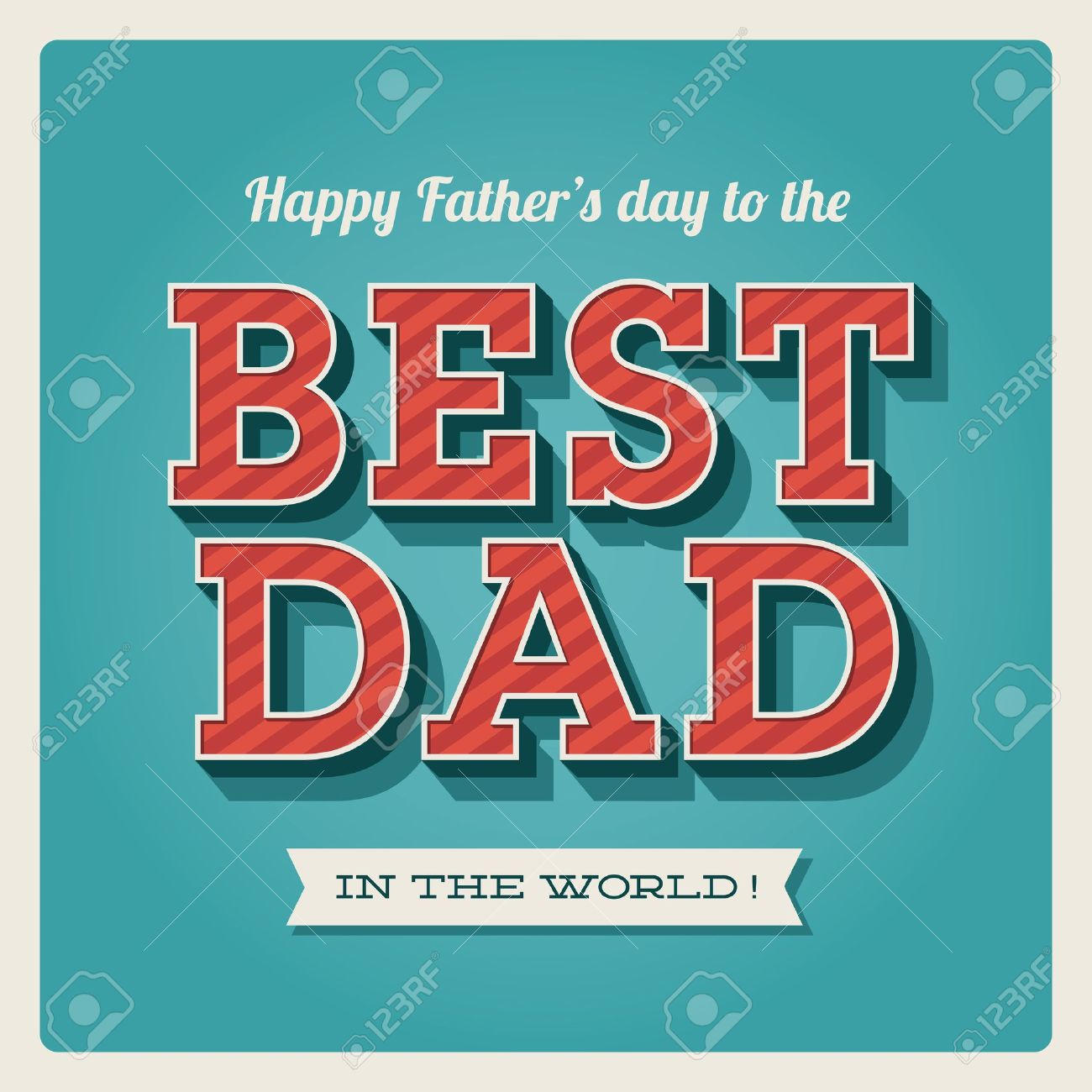 Happy Fathers Day Card Vintage Retro Type Font Royalty Free Cliparts