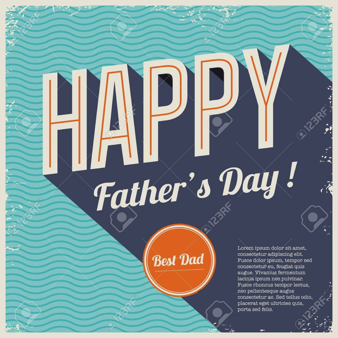 Happy Family Day Cards Happy Fathers Day Card Vintage