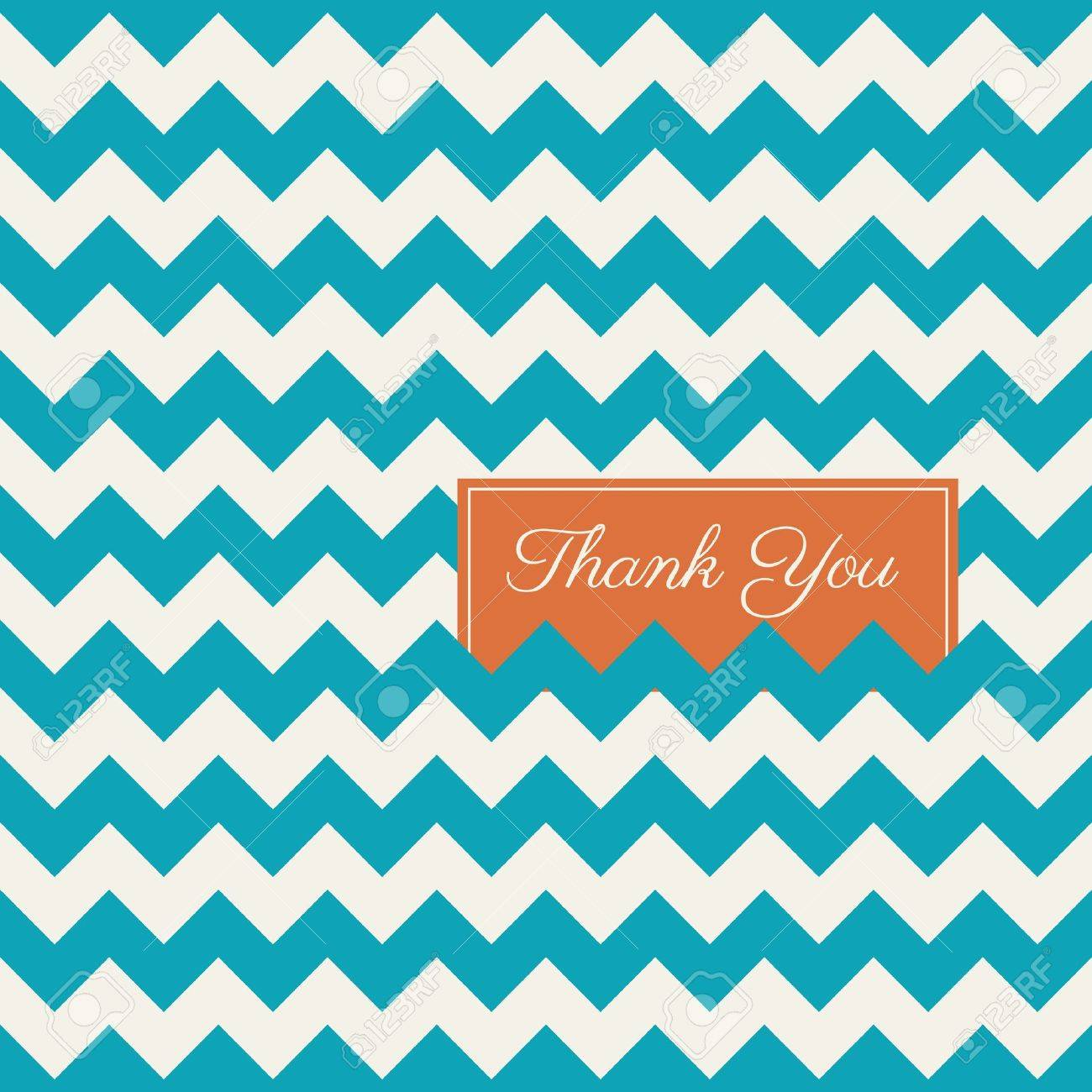 chevron seamless pattern background, thank you card Stock Vector - 18911613