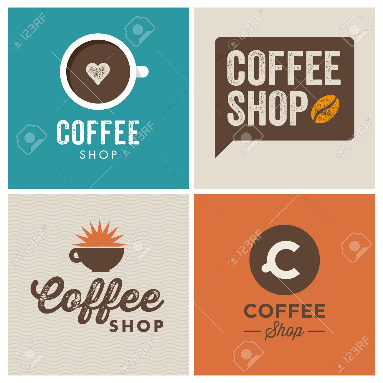 Vintage Coffee Shop Logo Coffee Shop Design Logo