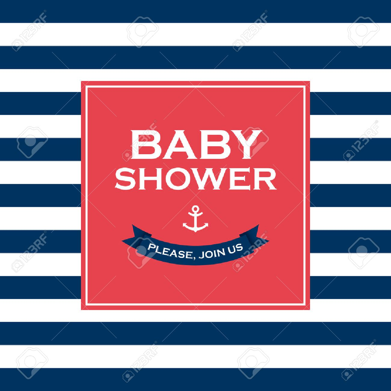 Baby Shower Card Invitation Vector Design Elements Editable Royalty ...