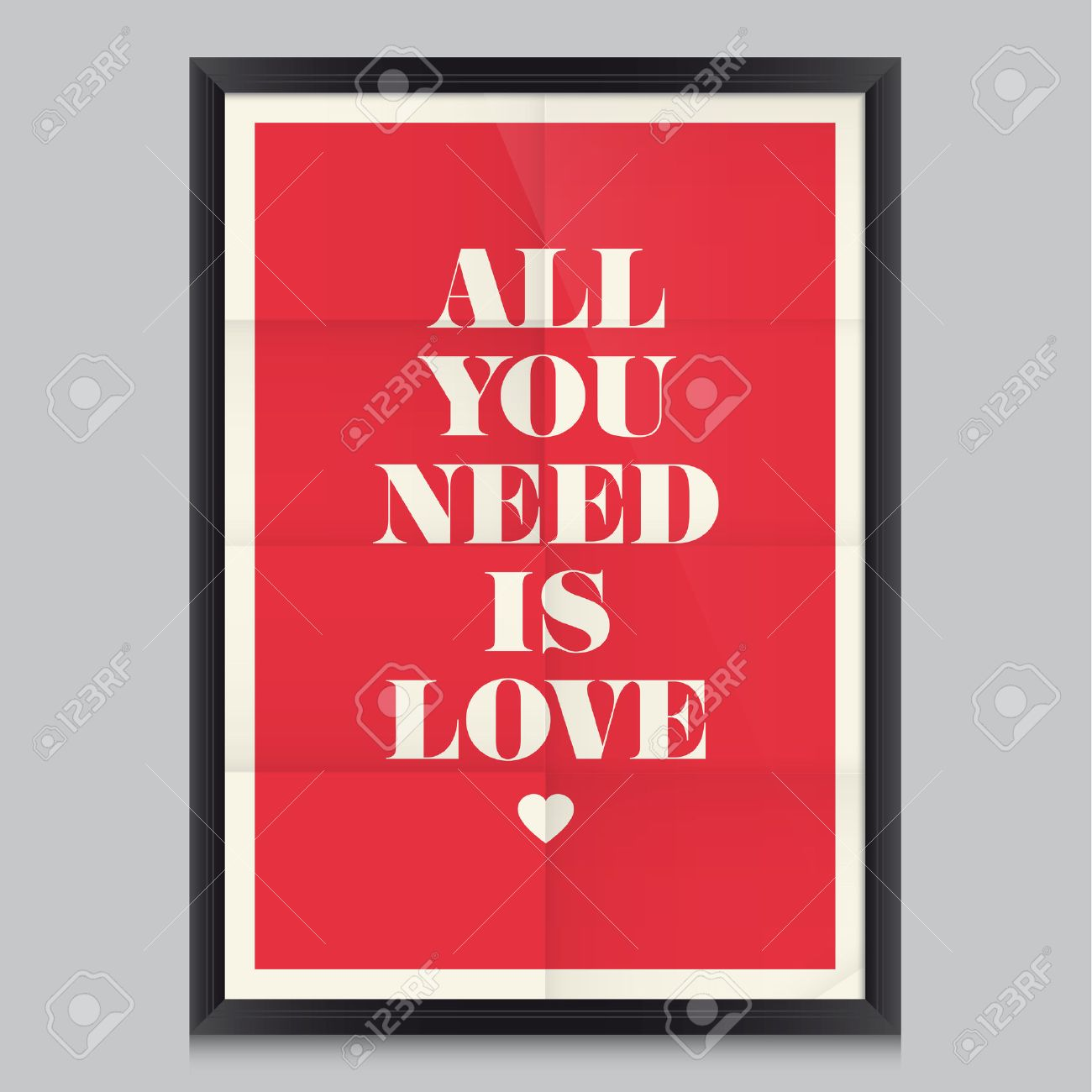 Love Quote Poster Effects Poster, Frame, Colors Background And Colors Text  Are Editable Happy