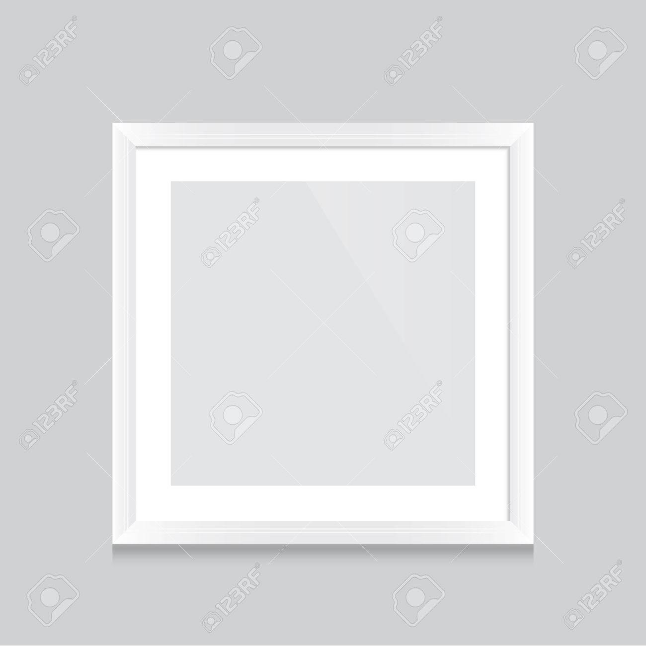 Poster-Vorlage Mit Weißem Rahmen Vektor-Design Einfach, Mit Ihrem ...