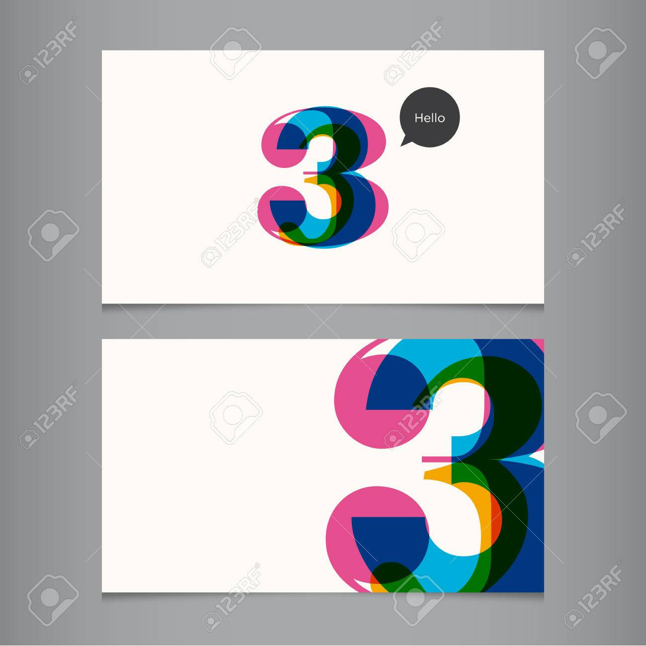 Business Card Template With Number, Color Editable Ideal For ...