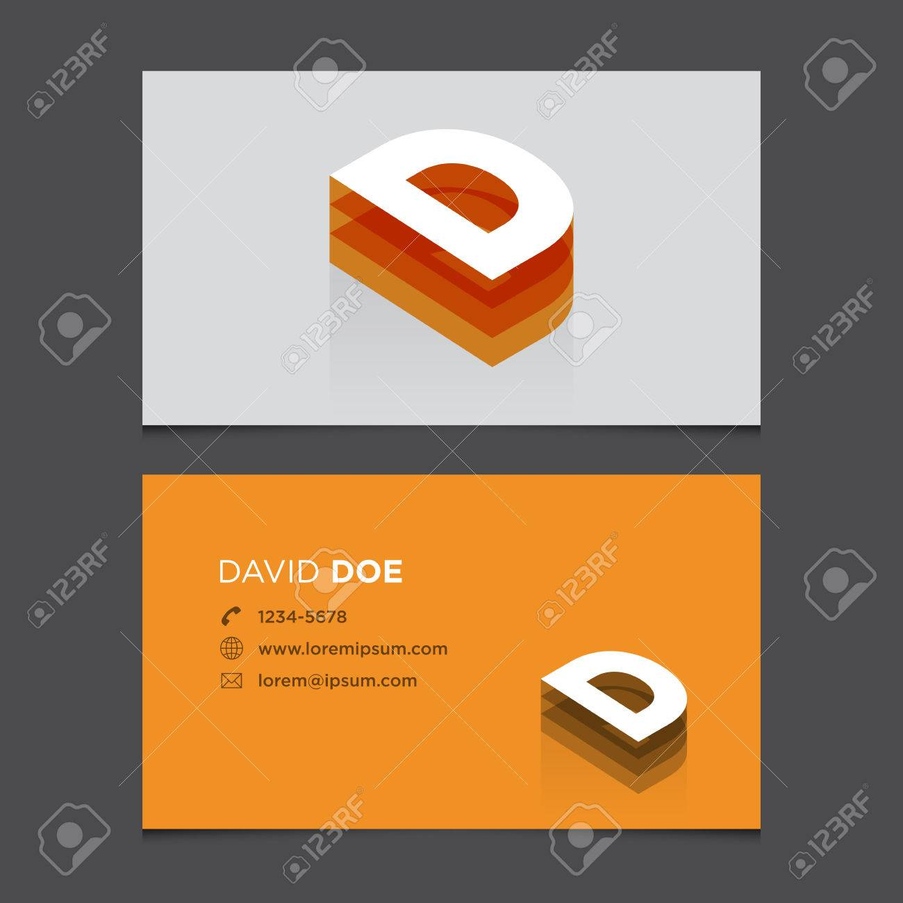 Business card with alphabet letter d vector template editable business card with alphabet letter d vector template editable vintage design stock vector 24122715 colourmoves
