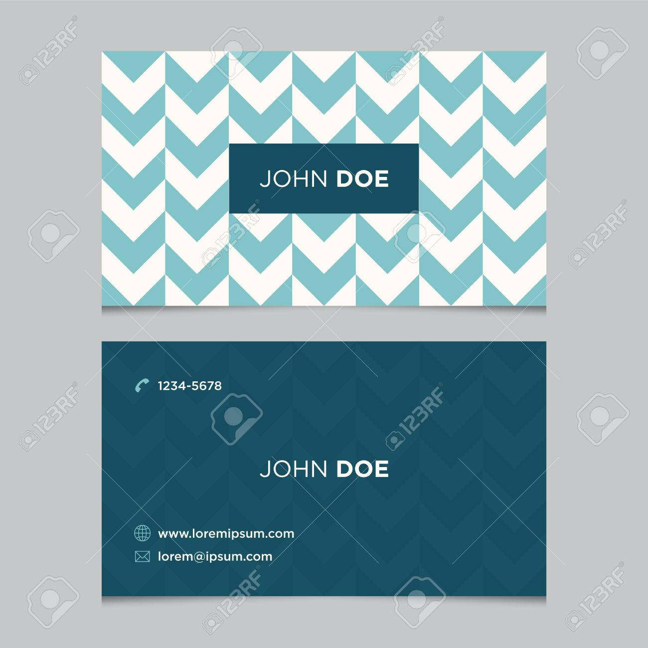 Business Card Template Background Pattern Vector Design Editable - Business card design templates