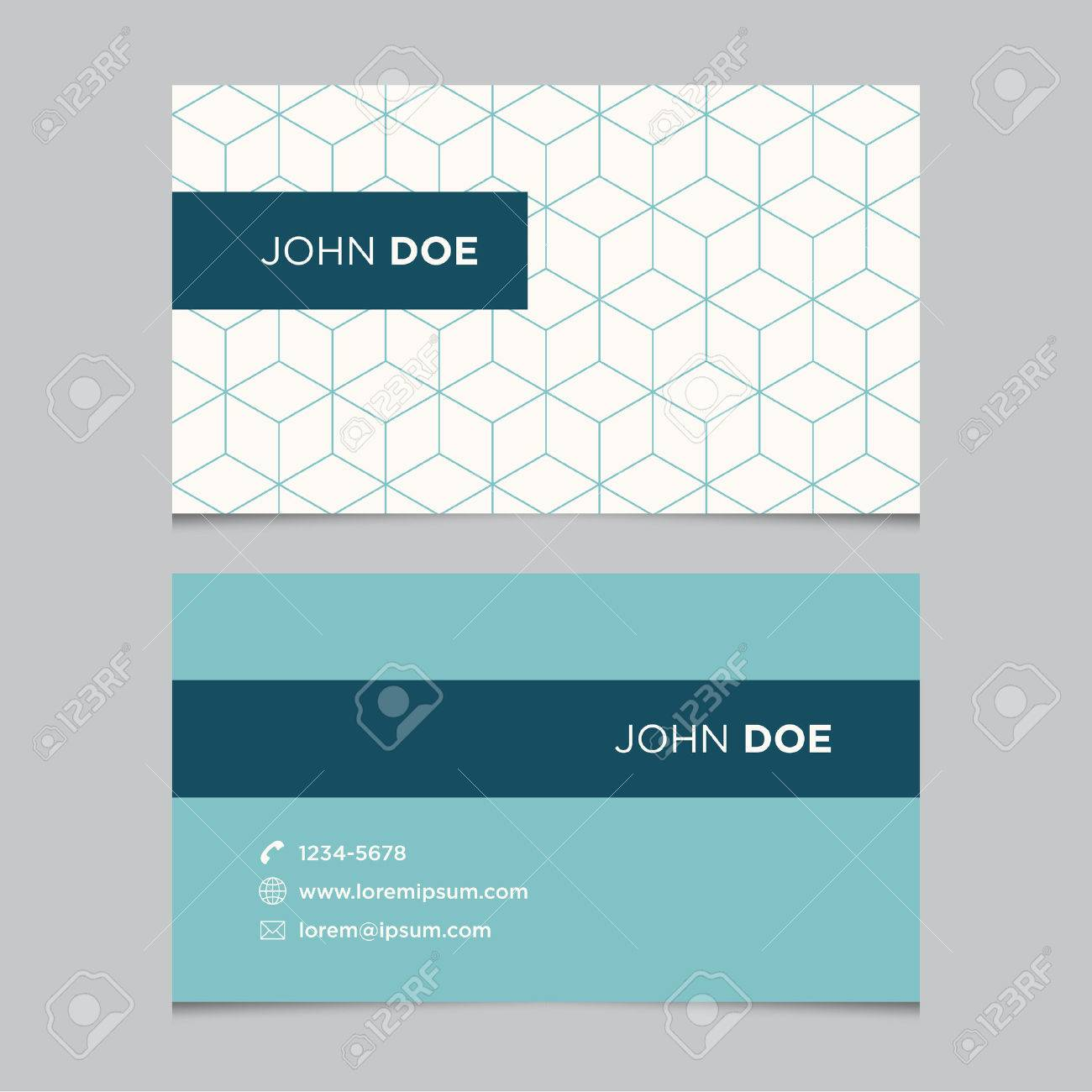 Business card template with background pattern Stock Vector - 29118901