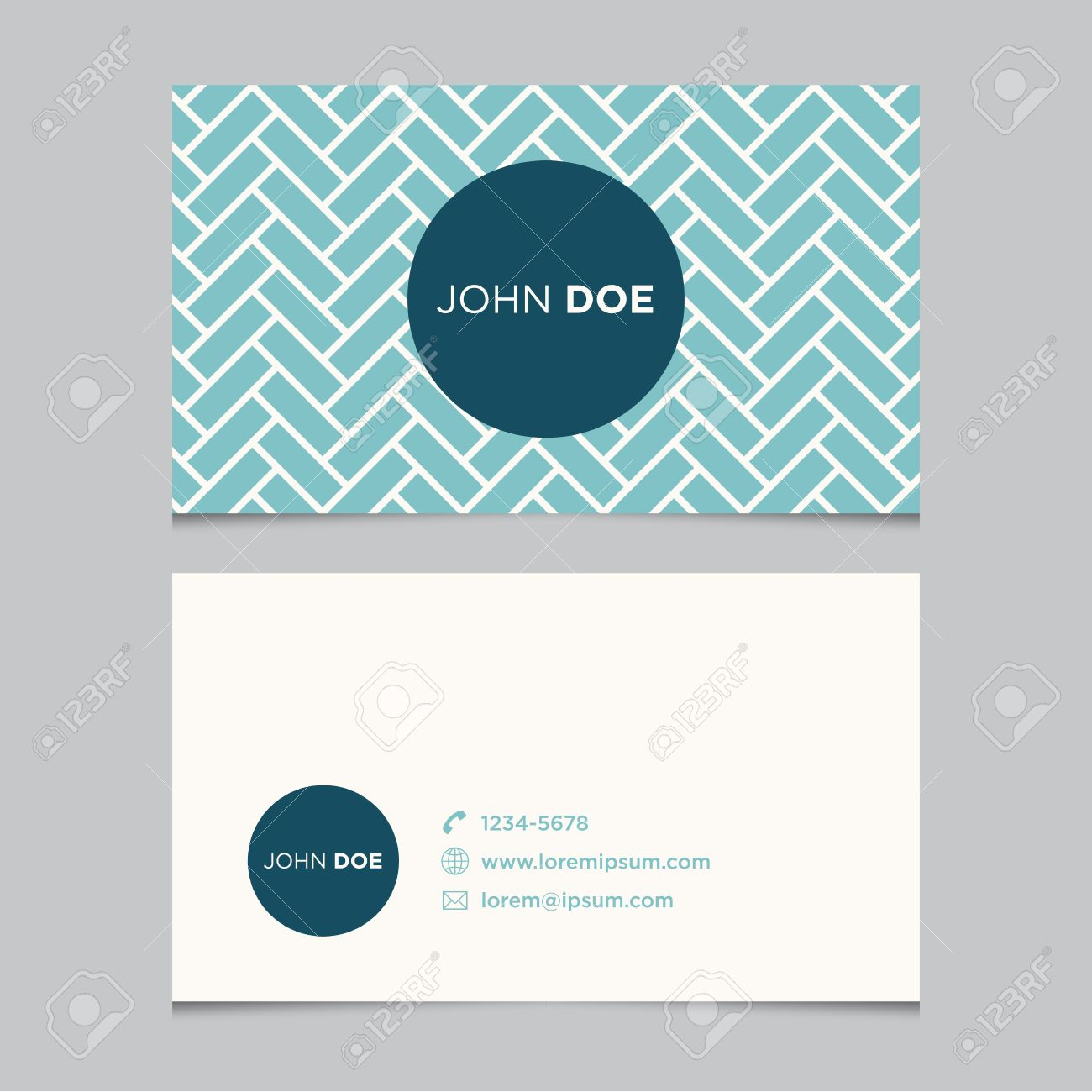 Business Card Template With Background Pattern Royalty Free ...