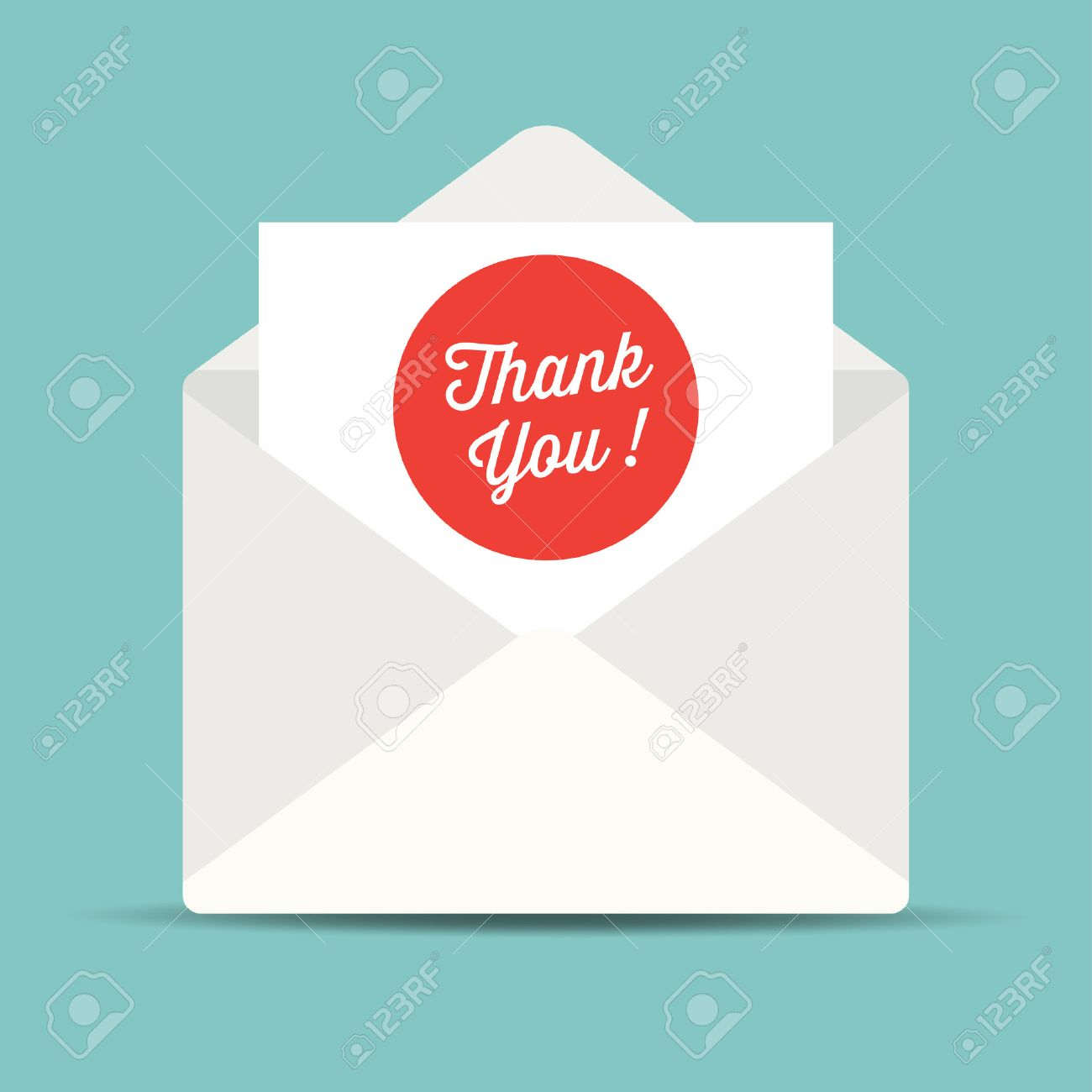 envelope mail, thank you card. - 39798166