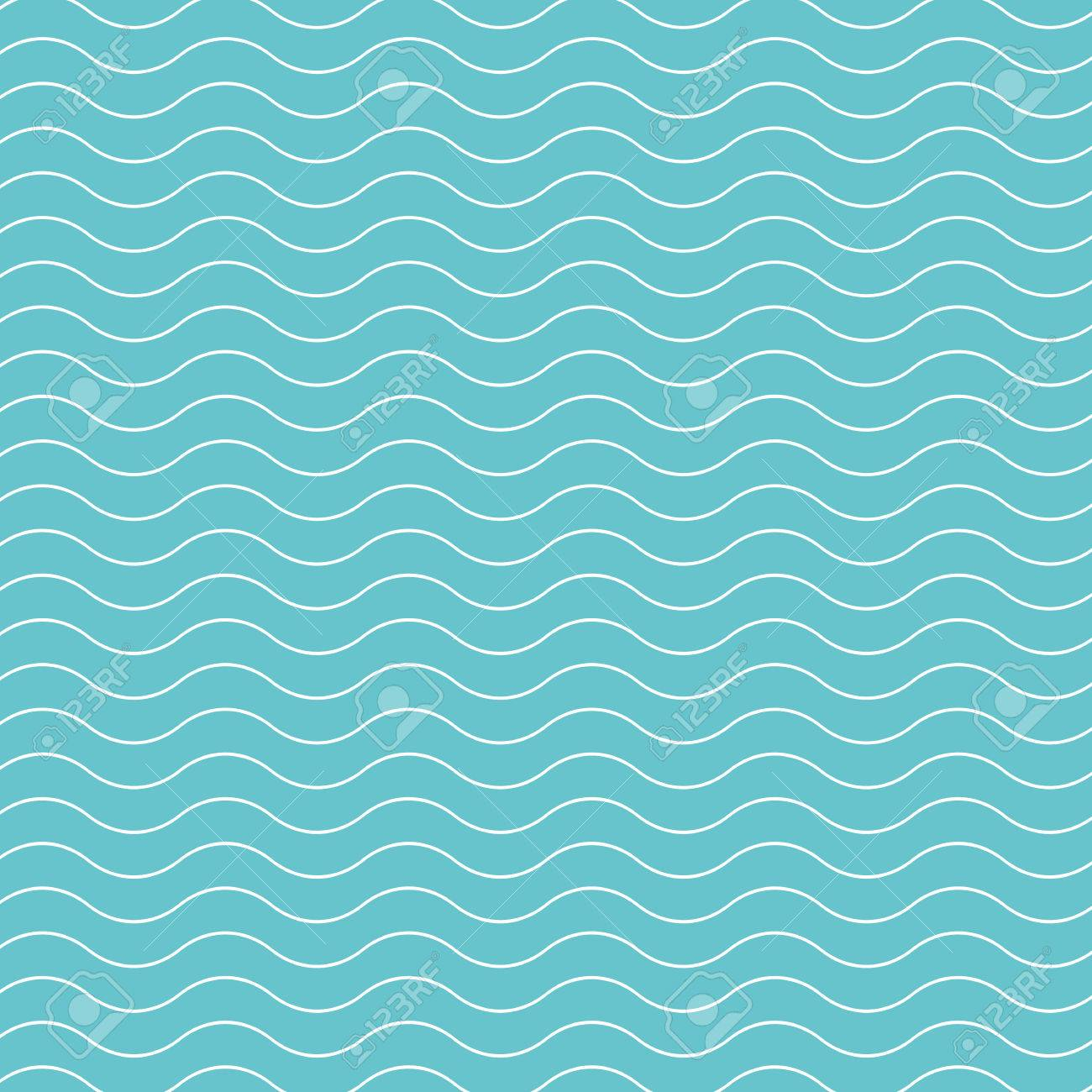 Wave pattern background  Vector background blue green