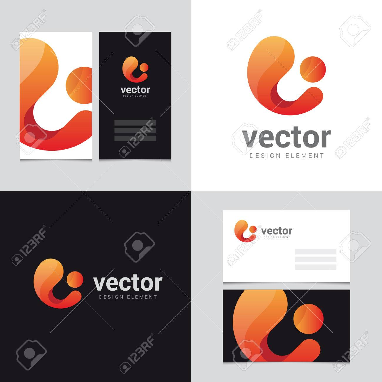 Business cards logo design images free business cards logo design element with two business cards template 22 vector logo design element with two business magicingreecefo Image collections