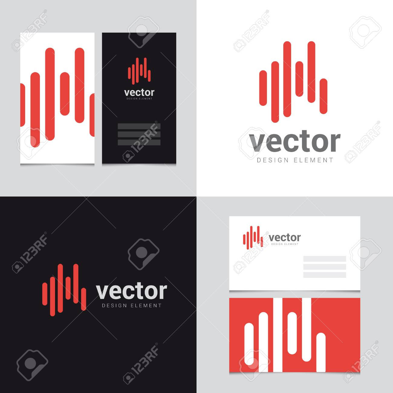 Logo Design Element With Two Business Cards Template - 24 - Vector ...