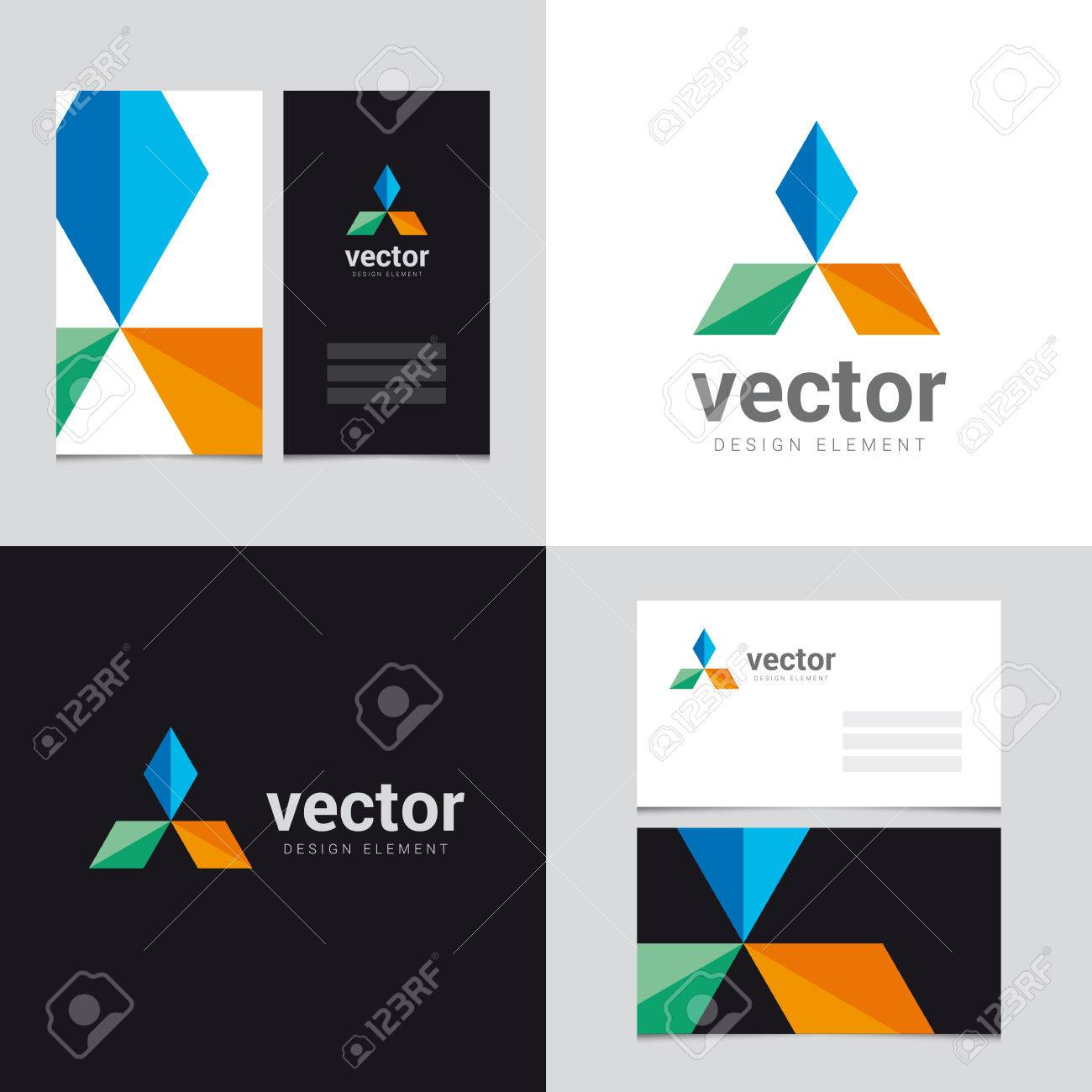 Logo design element with two business cards template 25 vector logo design element with two business cards template 25 vector graphic design elements for reheart Gallery