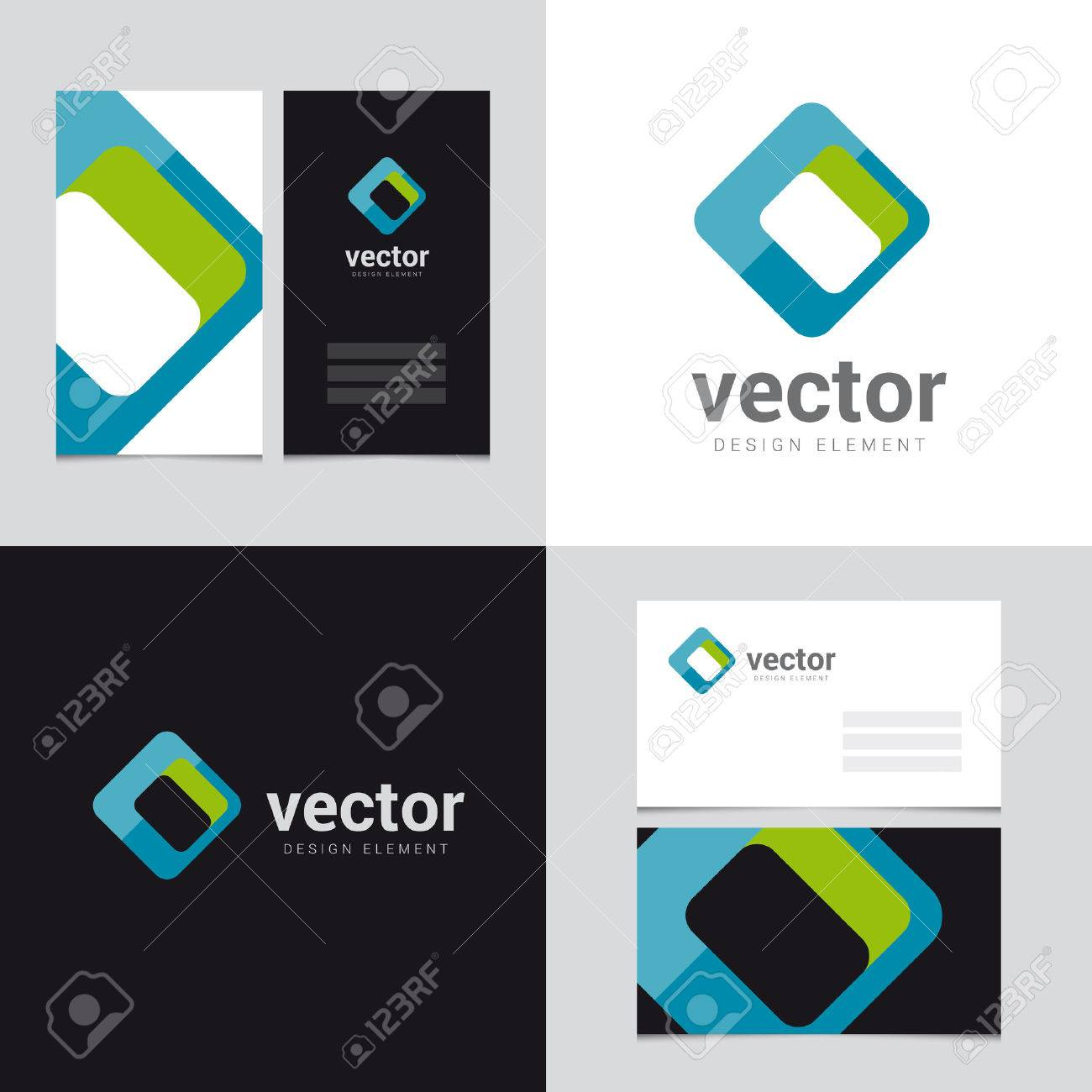 Logo Design Element With Two Business Cards Template - 26 - Vector ...