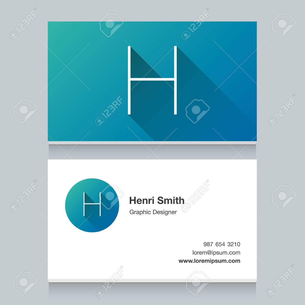 logo alphabet letter h business card template vector logo alphabet letter