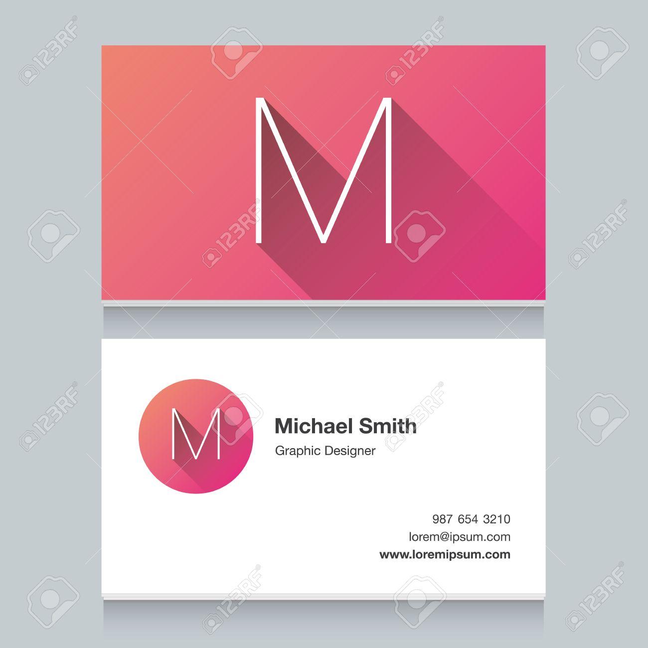 logo alphabet letter m business card template vector logo alphabet letter