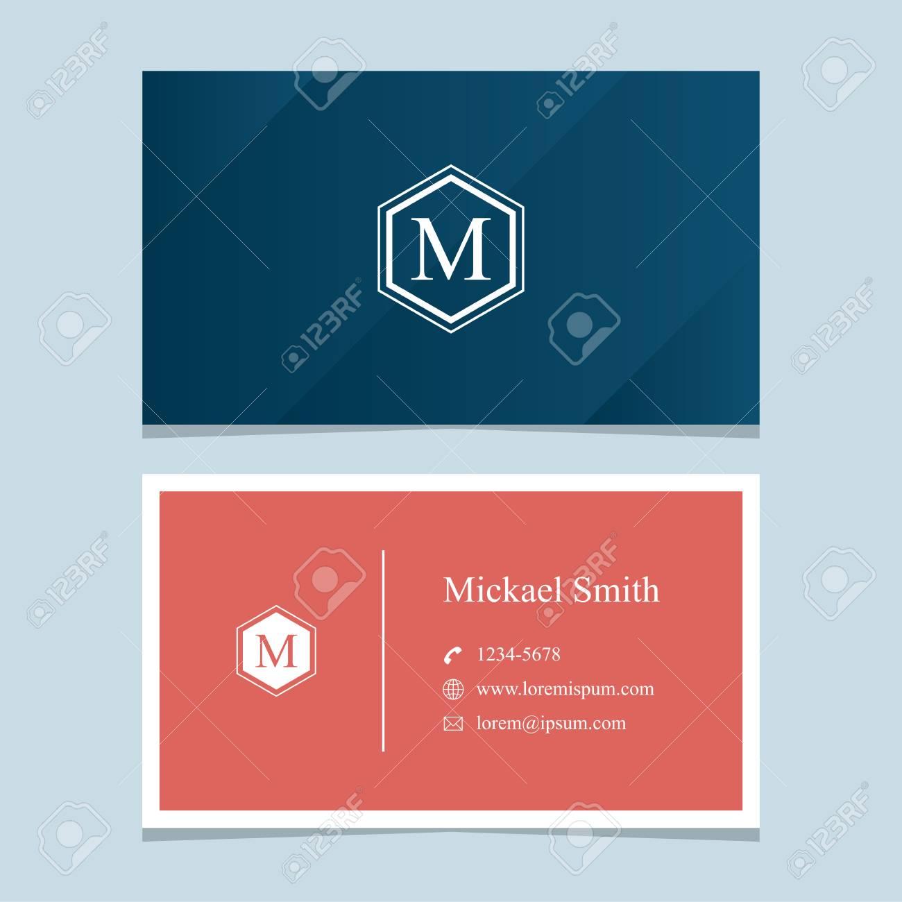 Alphabet Buchstaben M Mit Visitenkarte Vorlage Vektor Grafik Design Elemente Fur Unternehmen Lizenzfrei Nutzbare Vektorgrafiken Clip Arts