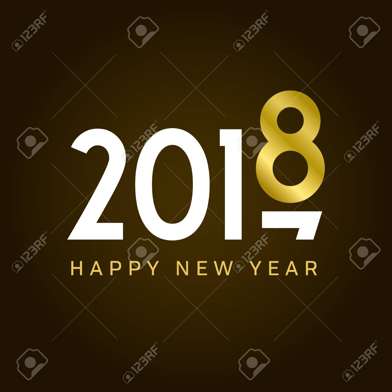 Happy new year 2018 card movement type editable vector design happy new year 2018 card movement type editable vector design stock vector m4hsunfo